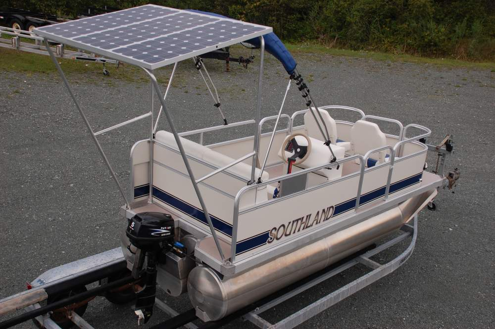 electric motor pontoon boat all boats